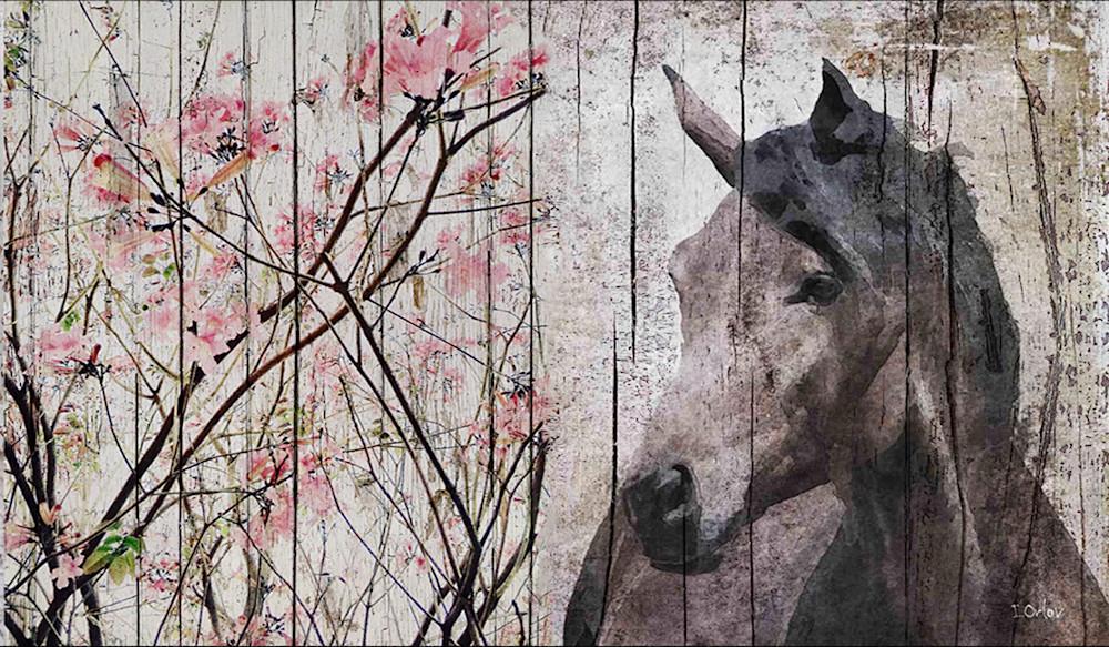 Horse Le Muse 2, Equestrian Rustic Wall Art, Textured Decorative Horse Art, Farm House Wall Decor