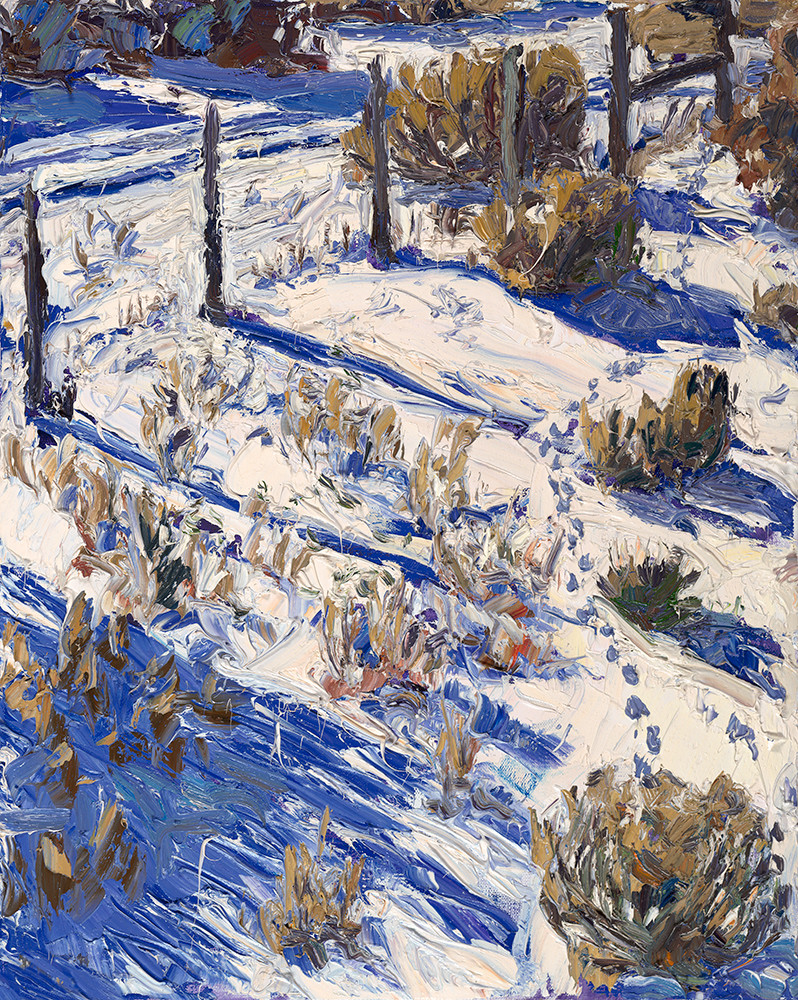 Studio View, Sunrise Snow Art | Fine Art New Mexico