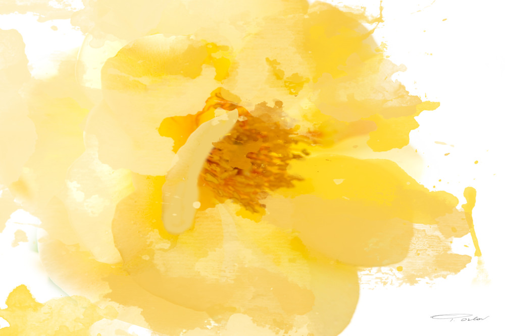 Beautiful and Bright, Yellow Flower Art by Irena Orlov