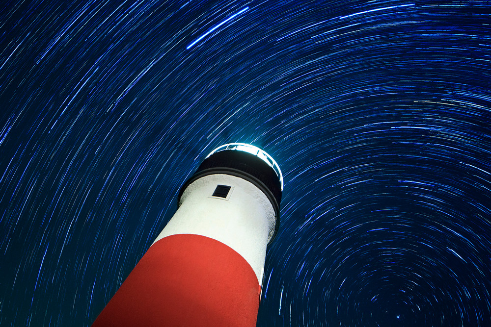 """Sankaty Star Swirls"" - Fine art Nantucket lighthouse photography"