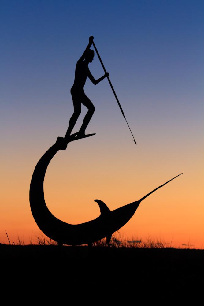 """The Hunt"" Martha's Vineyard coastal fishing wall art"