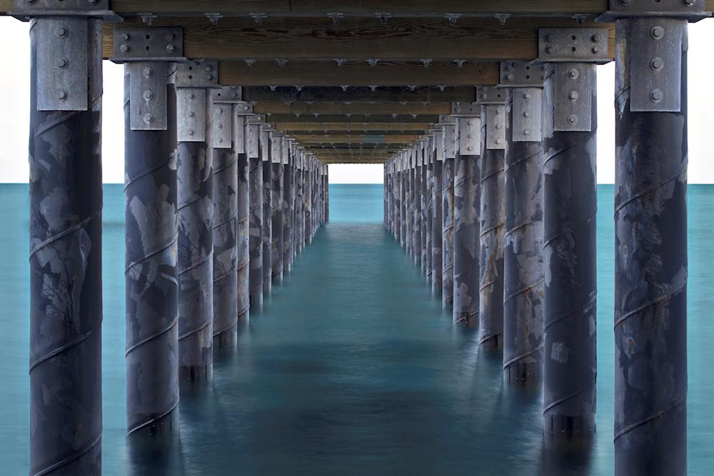"""Under the Pier"" Martha's Vineyard seascape art photography"