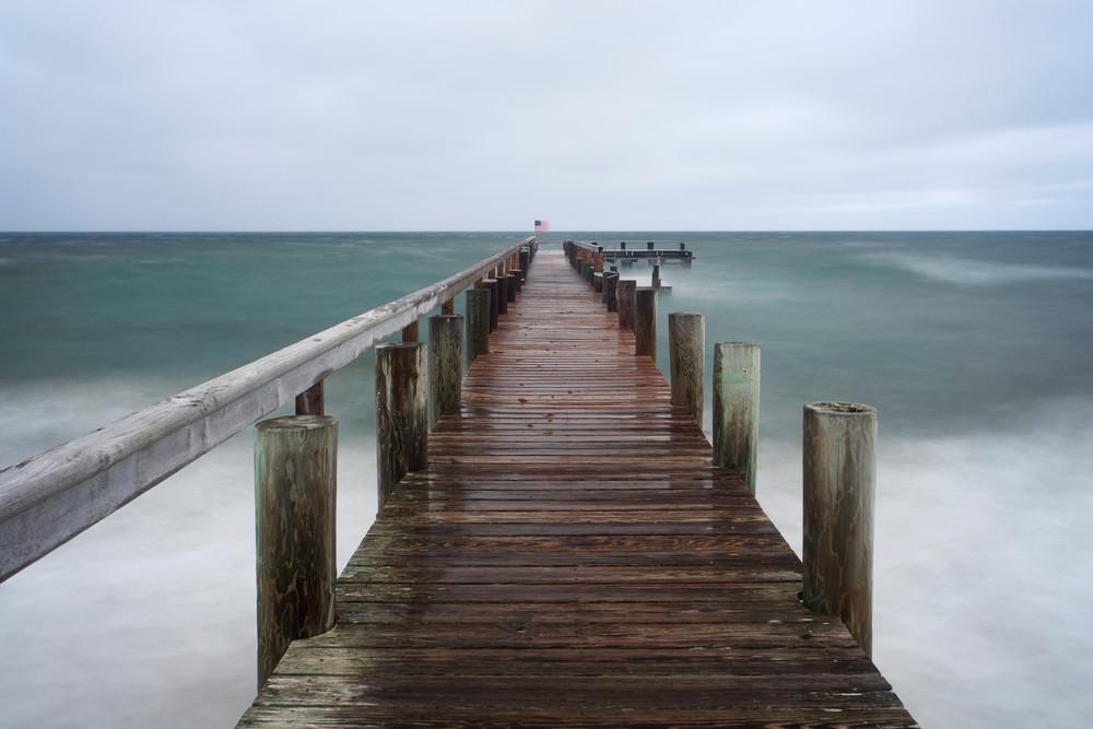 """""""East Chop Storm"""" Oak Bluffs Martha's Vineyard pier photograph"""