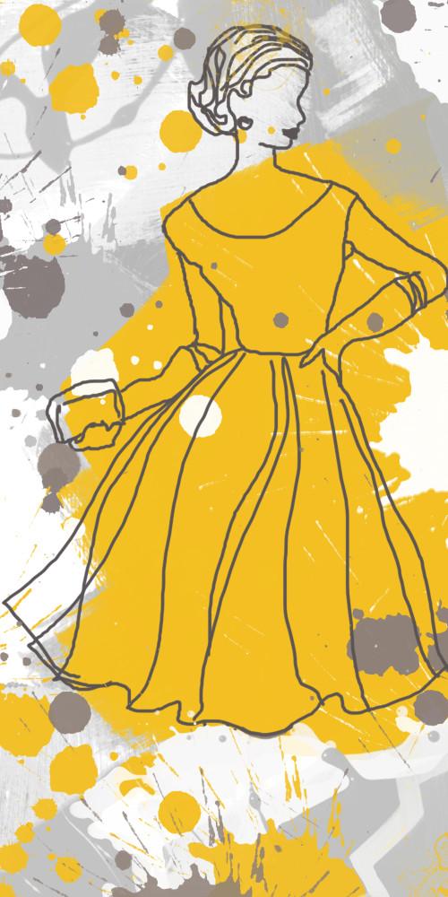 ORL-741 Women in yellow dress