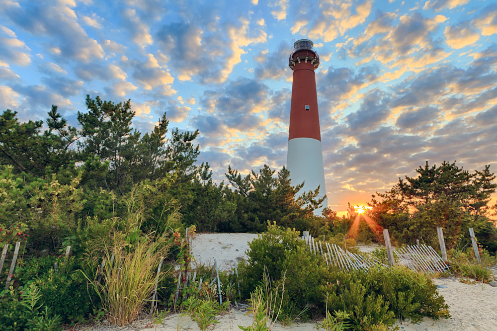 """Barnegat Lighthouse Summer Sunset"" Fine art New Jersey lighthouse photography"