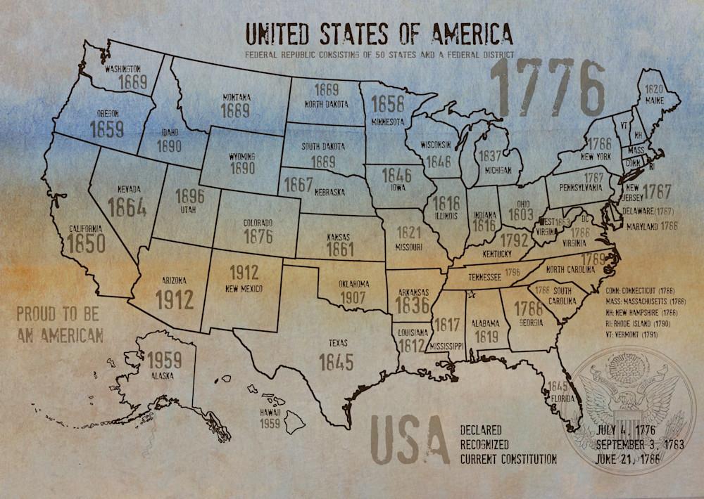Map Of Usa 1776.Orl 2988 31 Usa Map 1776 31