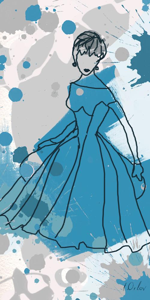 ORL-740 Women in blue dress copy