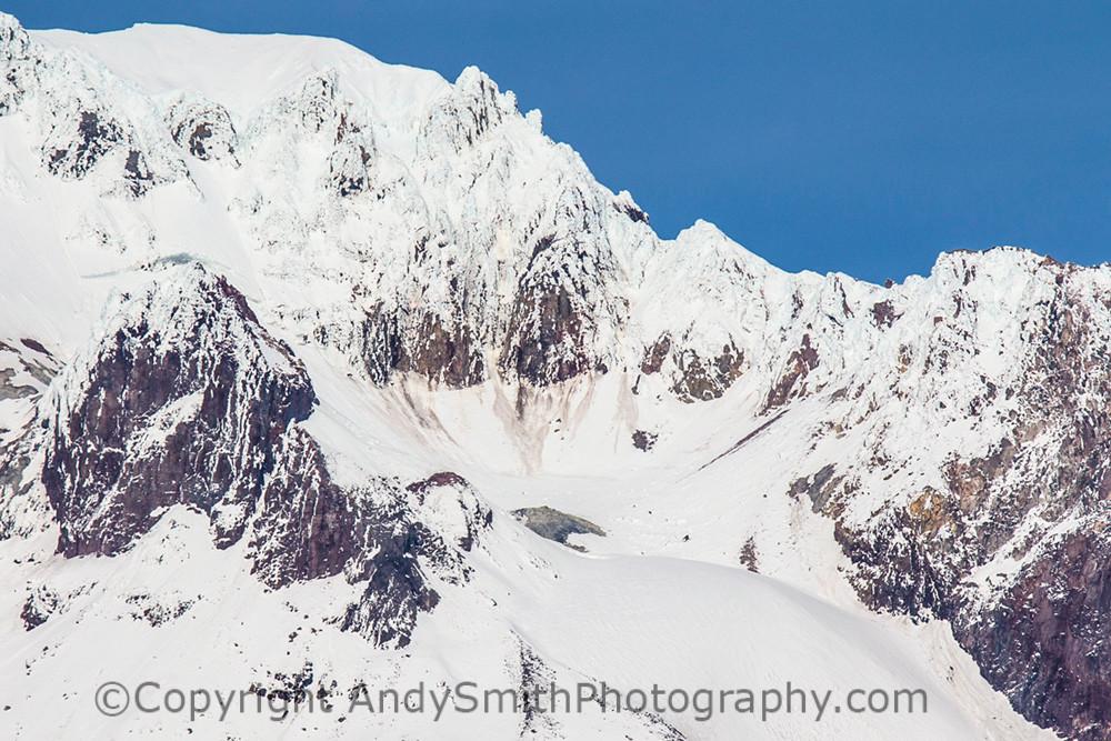 fine art photograph of Mount Hood Summit rocks and snow