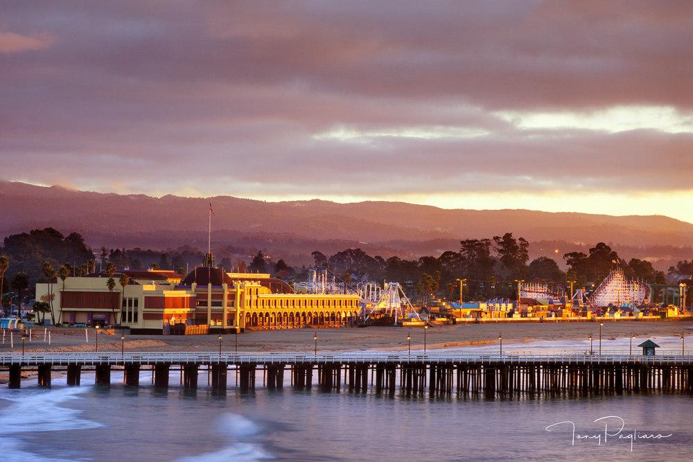 Santa Cruz Boardwalk and Wharf photograph for sale as fine art by Tony Pagliaro