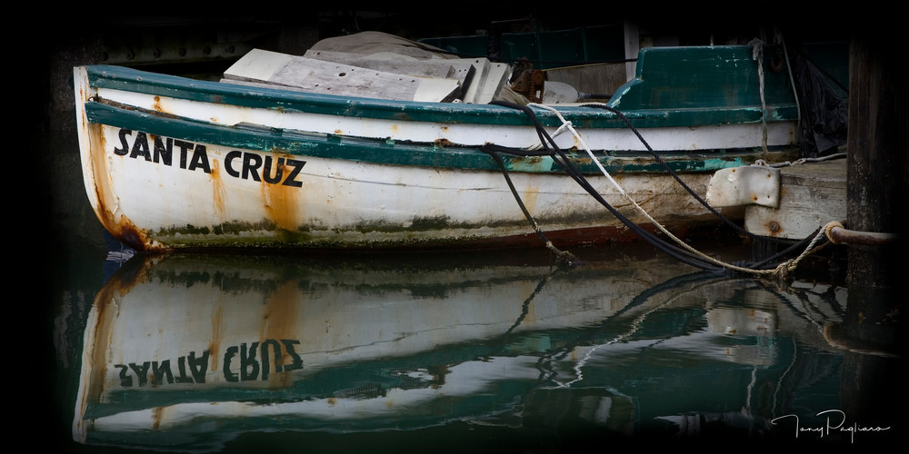 Santa Cruz Boat - Fine Art Photograph by Tony Pagliaro