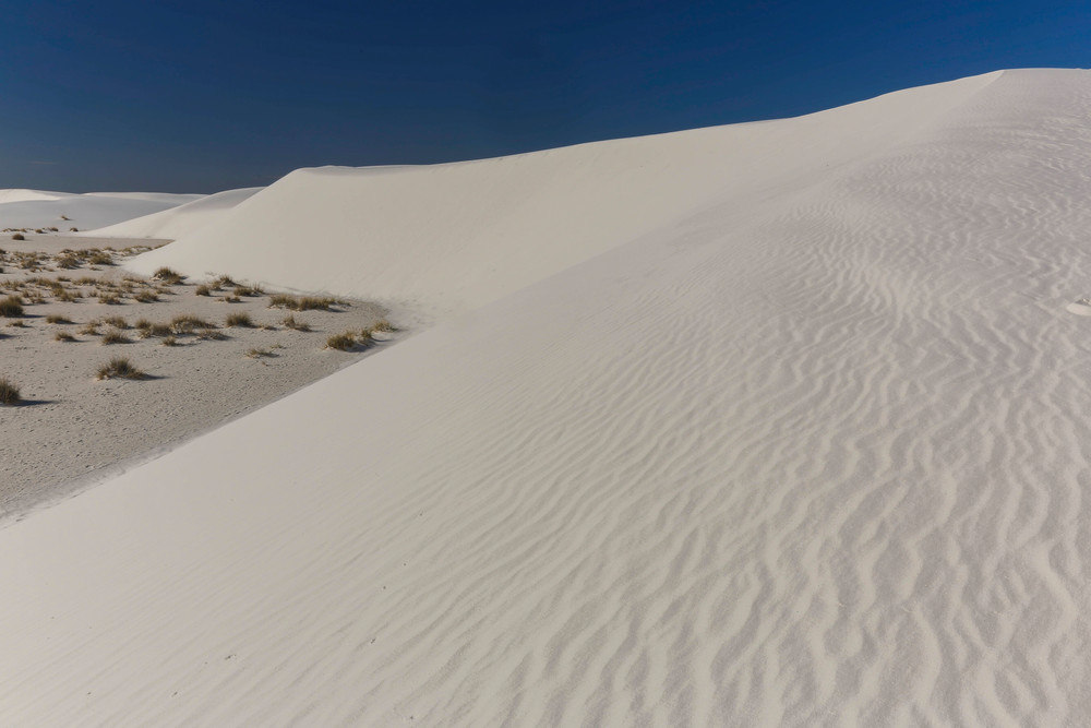 Blue Sky at White Sands photograph for sale as art.