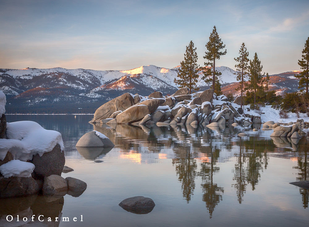 Winter Calm Sand Harbor Lake Tahoe Fine Art Photography