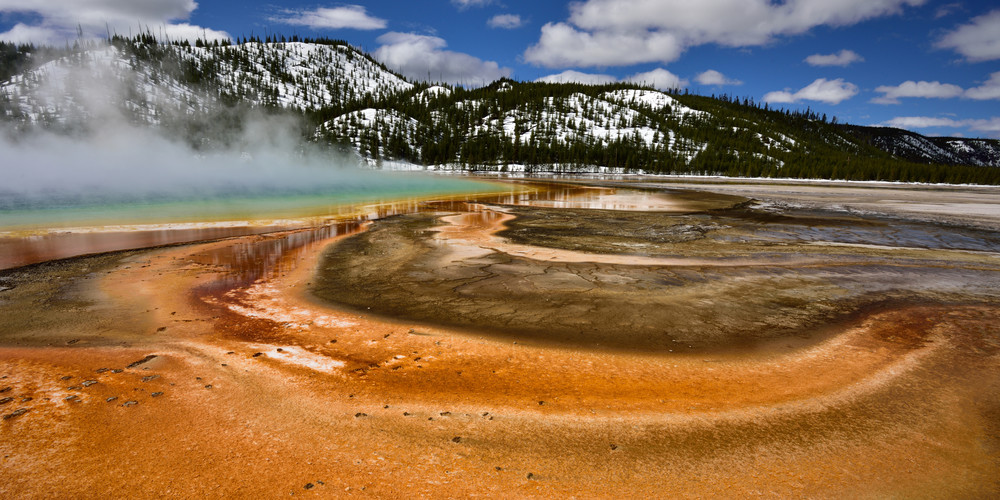 GRAND PRISMATIC HOT SPRING 8X10 PHOTO YELLOWSTONE PARK