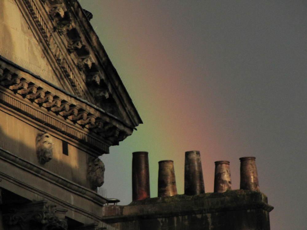 Rainbow And Mist Over Bath, England #1 Photography Art   Photoissimo - Fine Art Photography