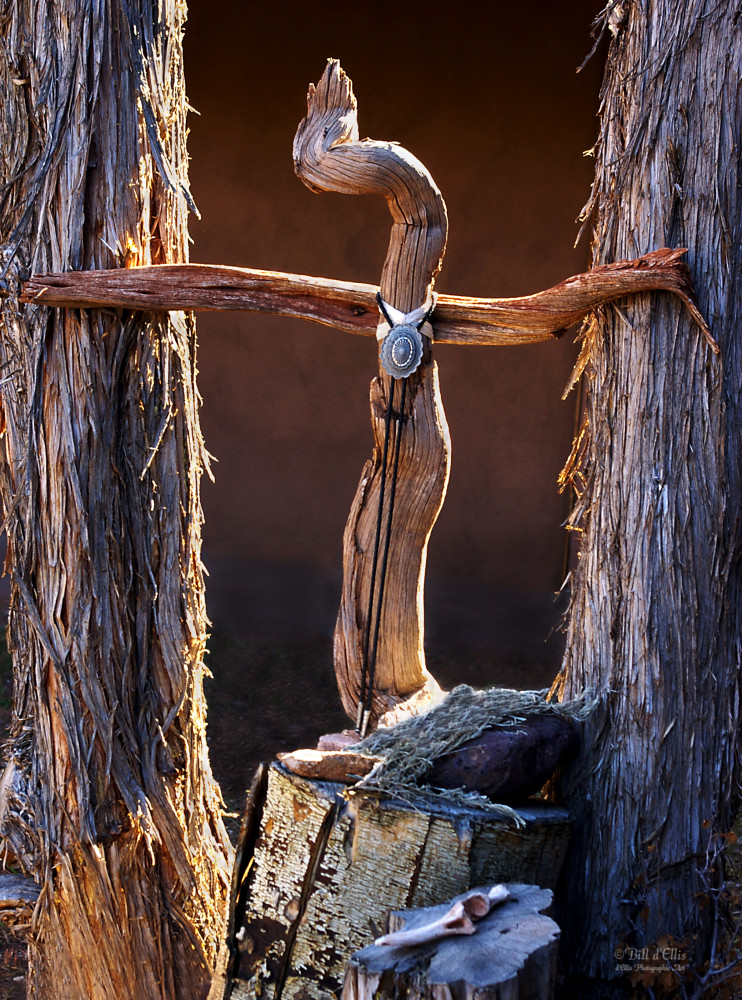 Cross at Christ in the Desert | d'Ellis Photographic Art photographs, Bill