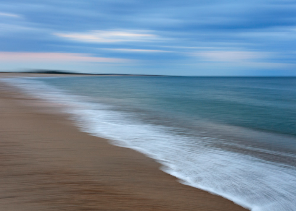 """Weekapaug Winter Dusk"" Westerly, Rhode Island Fine Art Abstract Beach Photograph"