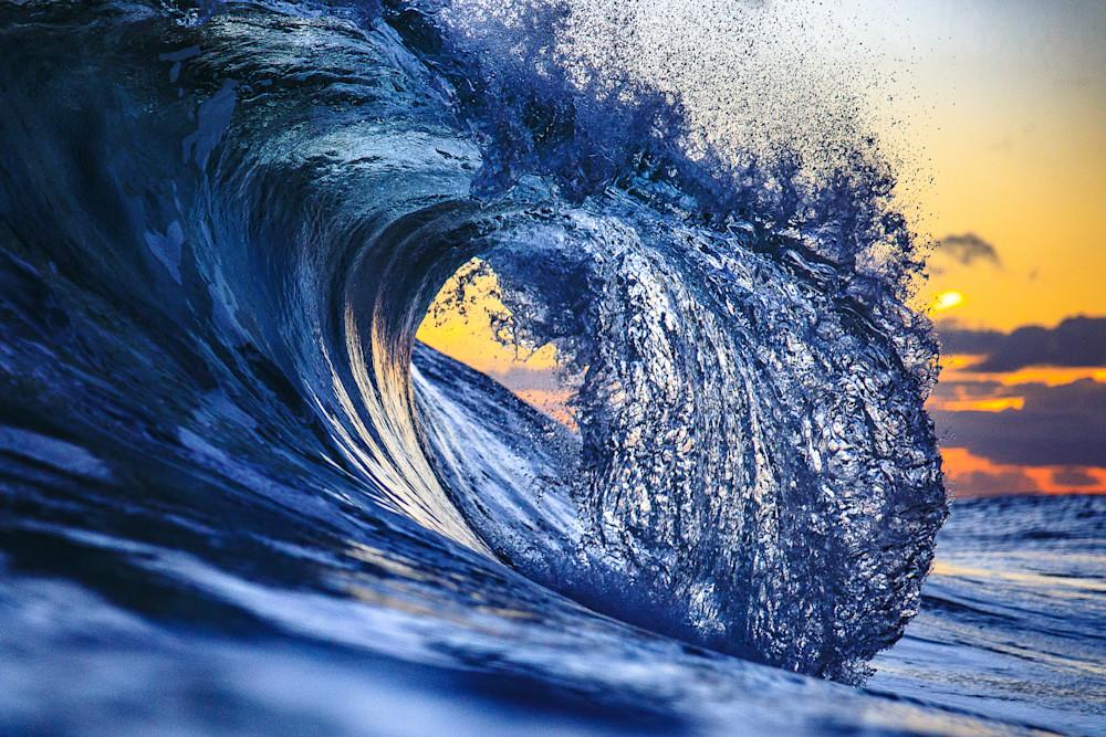"""""""Blue Steel"""" Wave Art by Steve Munch"""