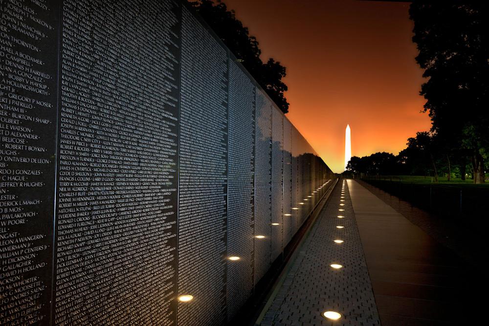Vietnam Veterans Memorial Wall photograph for sale as art.