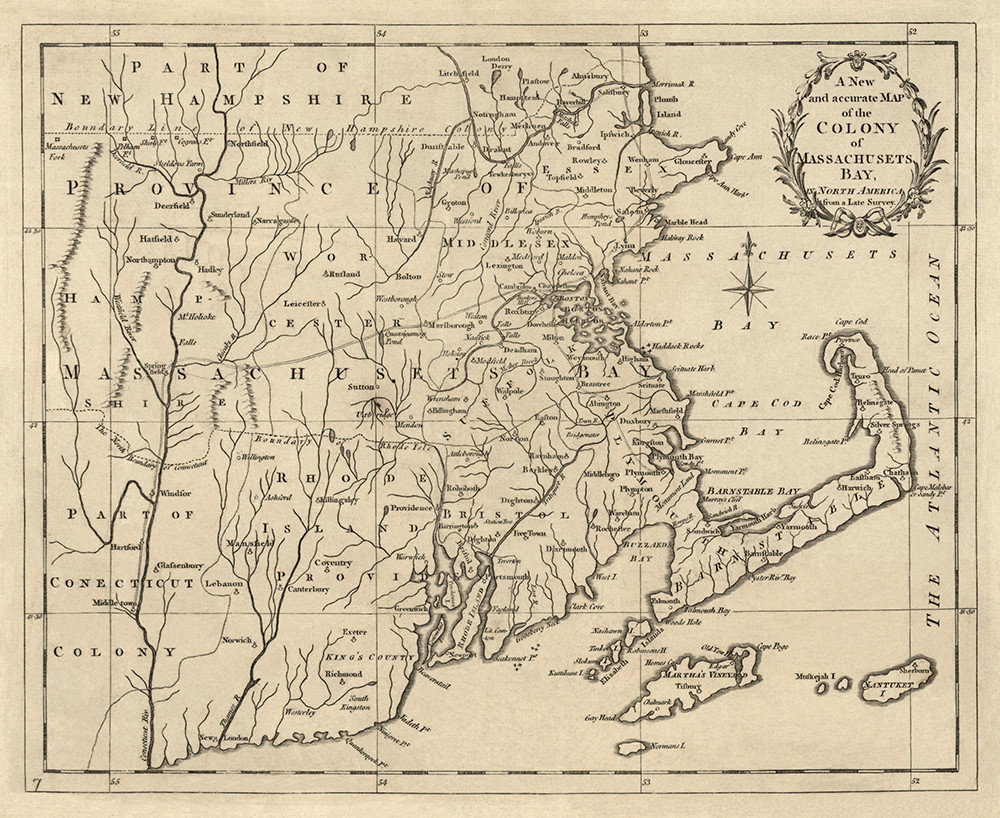 Colony of Massachusets Bay 1780