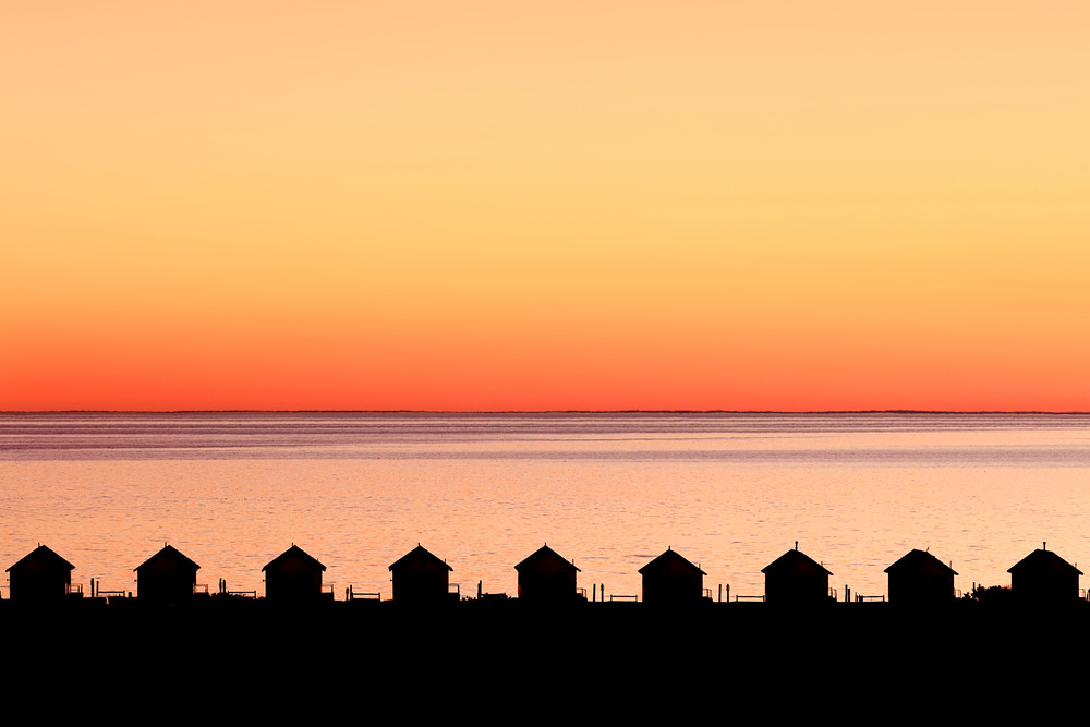 """Dusk on the Bay"" Provincetown, Cape Cod Days Cottages Sunset Photograph"