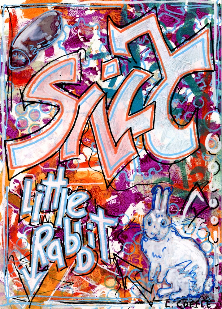 silly little rabbit graffiti