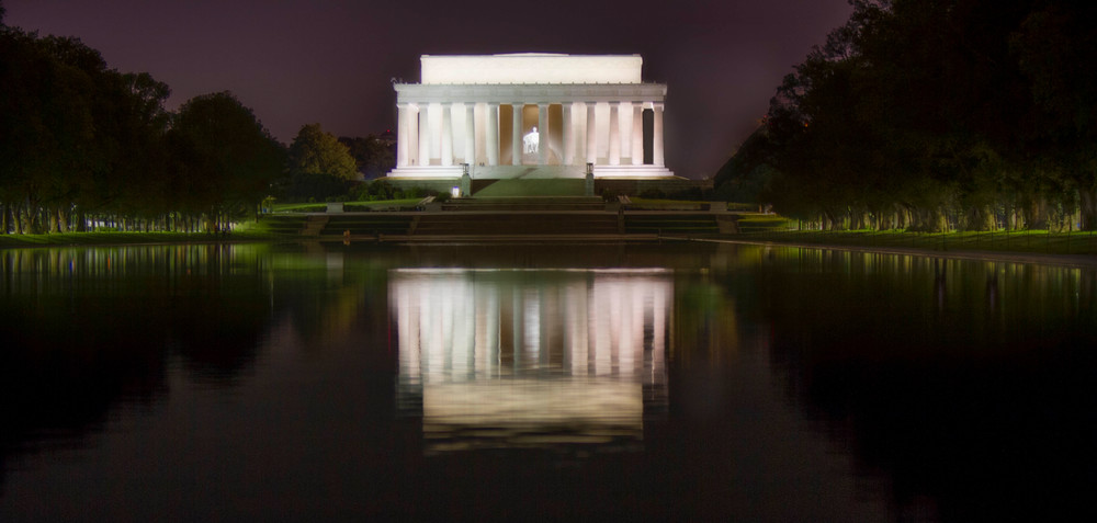 Lincoln Memorial Reflection photograph for sale as art by Mike Jensen