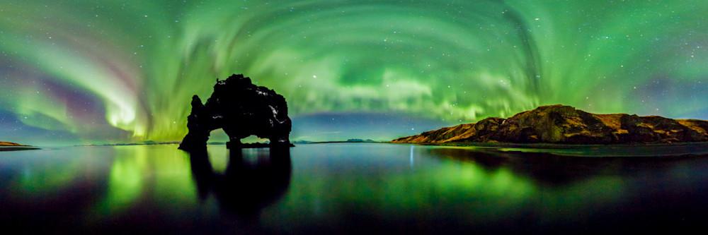 Hvítserkur, Iceland & 360 Auroras