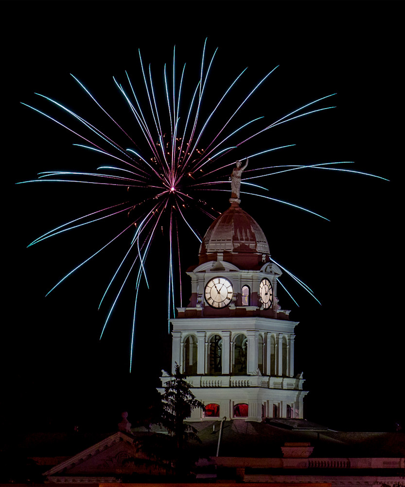 Fireworks Over Courthouse