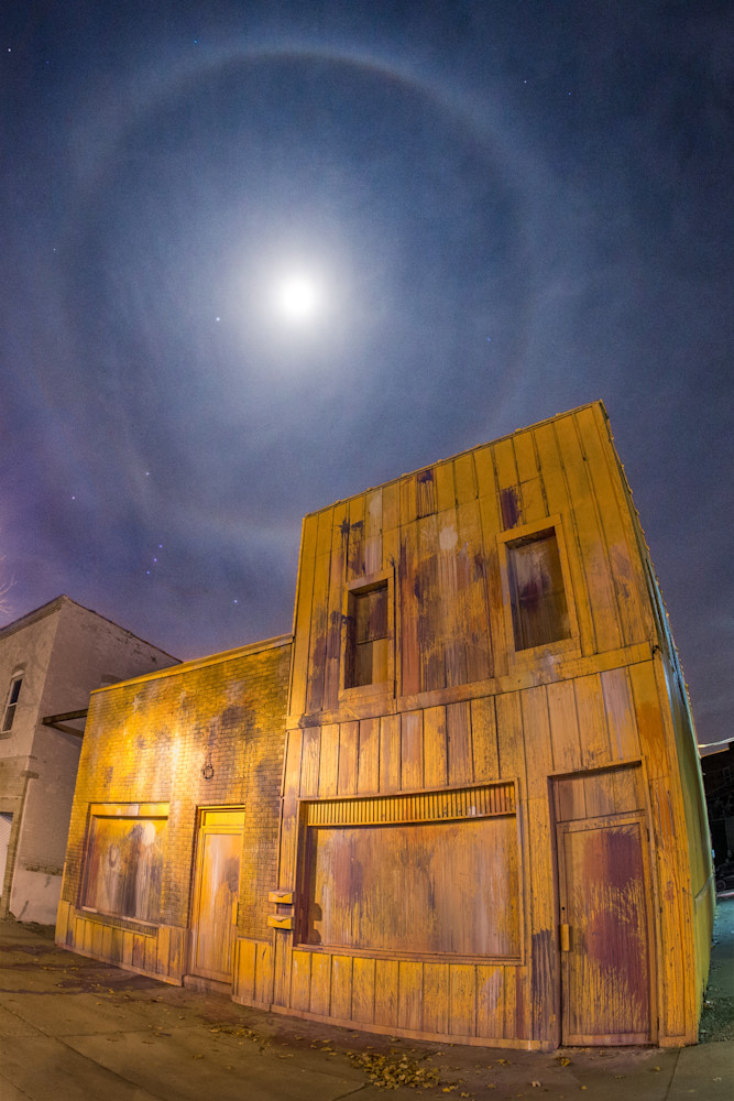 Moon Halo Over 'The Piece'