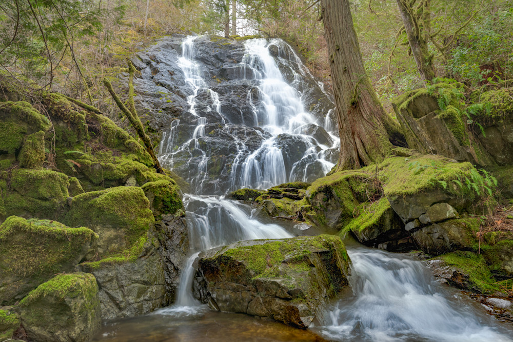Mary Vine Falls Photograph for Sale as Fine Art.
