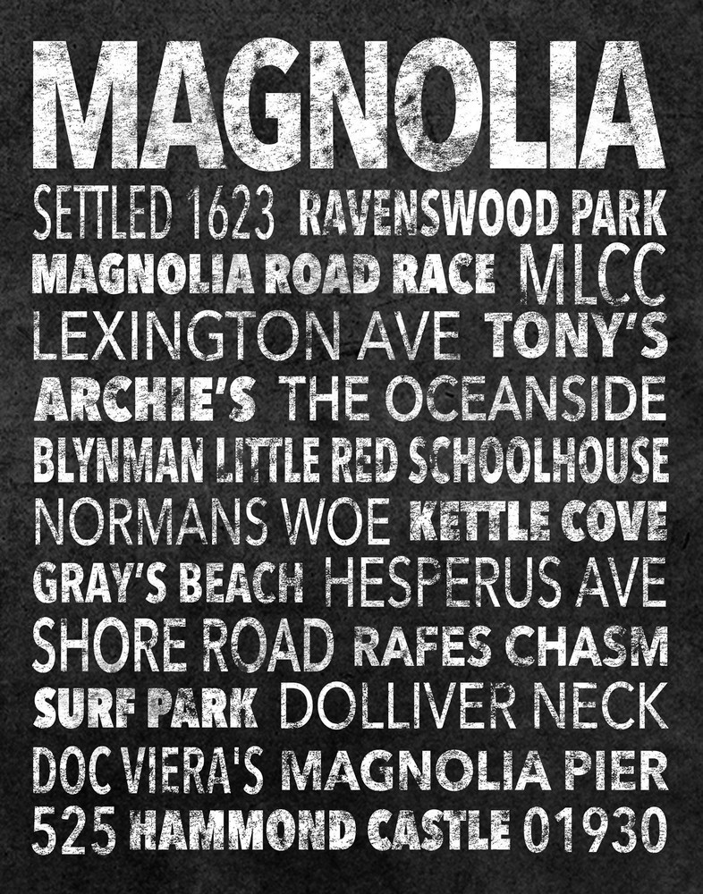 Hometown Graphics Magnolia Black Art | capeanngiclee