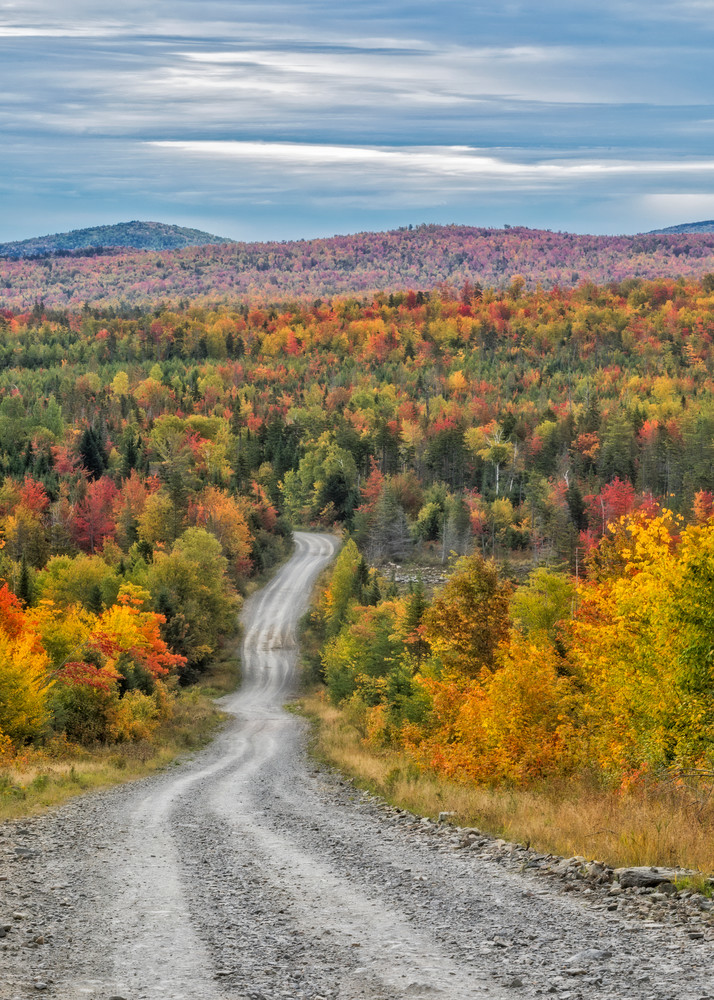 Maine's Baxter State Park Road in a colorful Autumn
