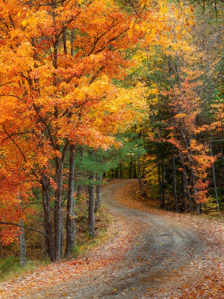 Beautiful Fall New England Scene in Deering, NH