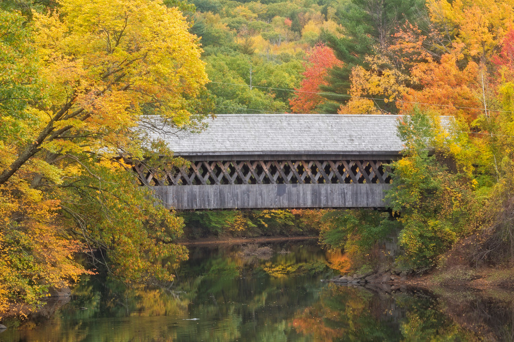 Fall and the Contoocook River and NEC Covered Bridge