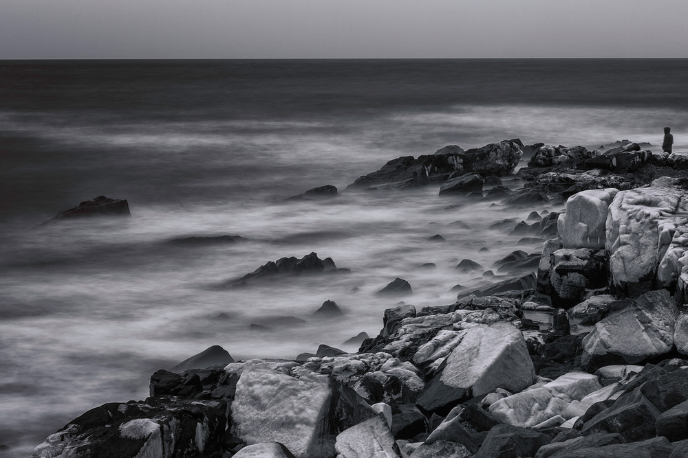 Winter in Kittery Maine, Atlantic Ocean
