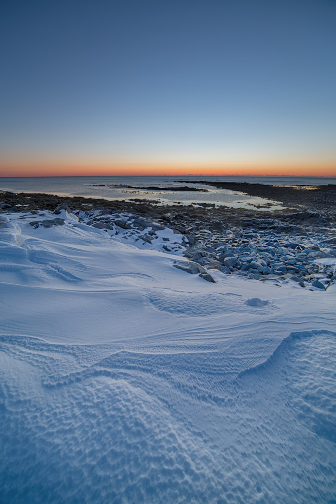 Winter blue hour at Odiorne Point
