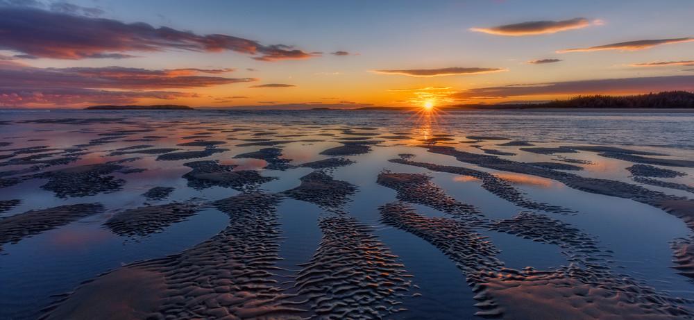 A Beach Sunset in Maine