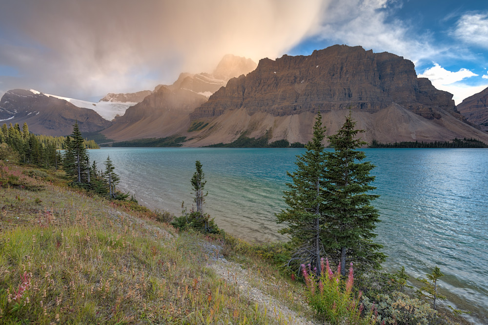 Bow Lake Beauty Photograph for Sale as Fine Art.