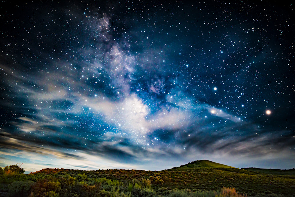 Milky Way over Blain Rock, Curecanti National Recreation Area Colorao