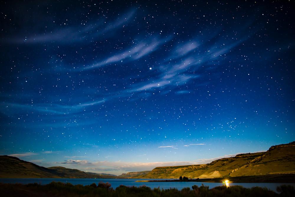 Milky Way over Blue Mesa Reservoir Curecanti National Recreation Area Colorao