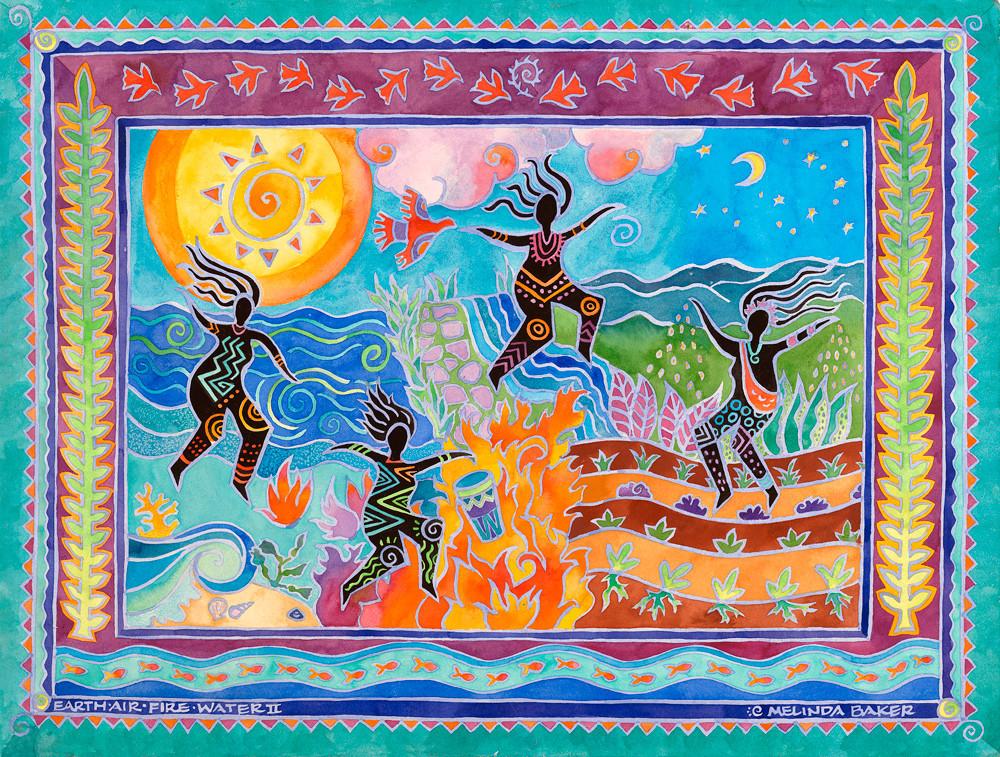Earth Air Fire Water Ll Art | Fine Art New Mexico