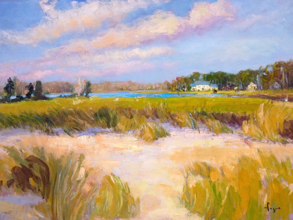 Beach Dunes Painting, Limited Edition Print by Dorothy Fagan