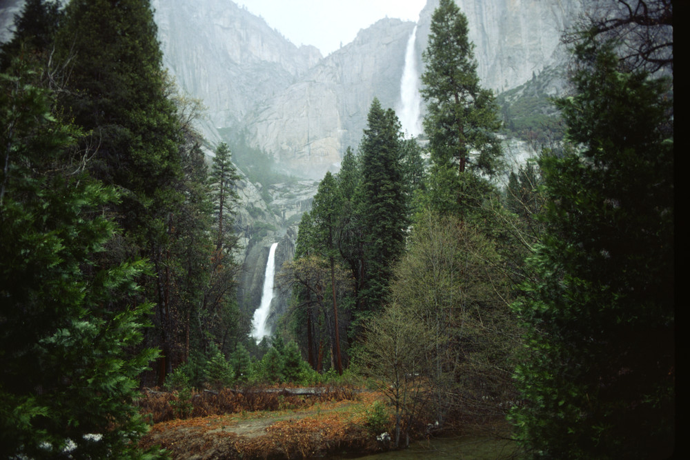 Upper and lower Yosemite Falls, Yosemite Park - fine art photograph