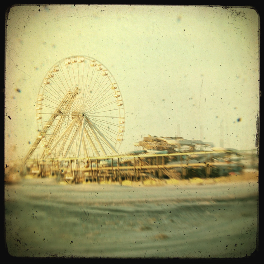 Wildwood Ferris Wheel photograph - for sale as fine art prints