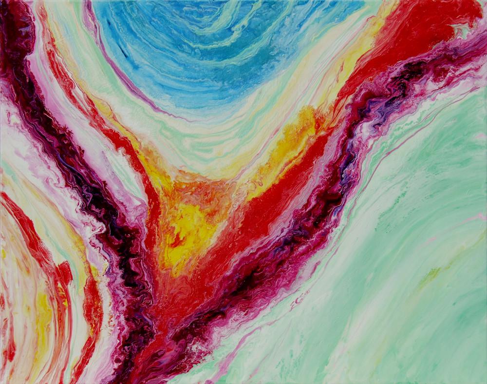 Abstract Acrylic Painting, Valiant