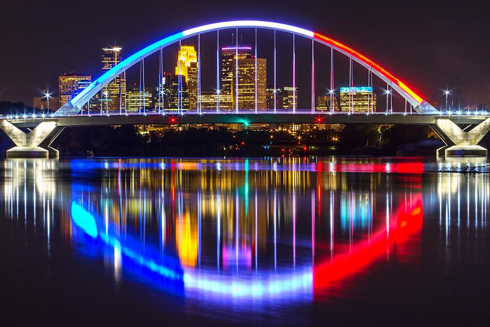 Lowry Bridge Labor Day - Minneapolis Art | William Drew