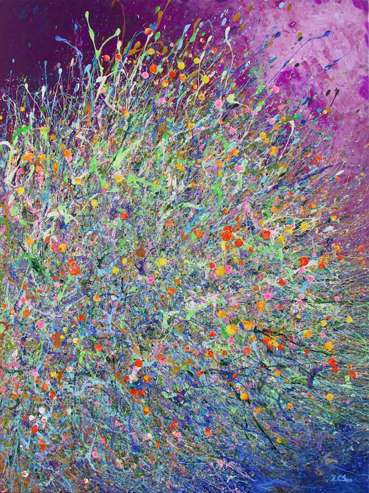 Desert Wildflowers #25 l En Chuen Soo l Abstract Art Of The Nature