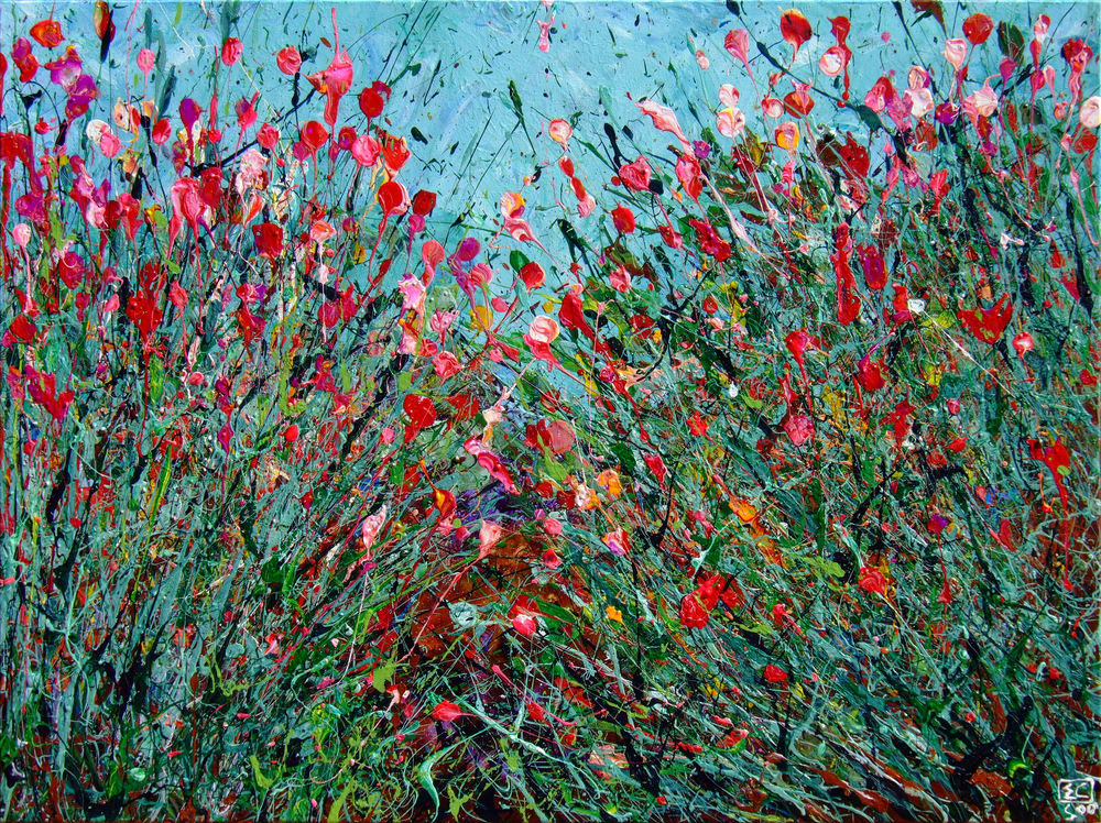 Blossoming Wildflowers Art #4 by En Chuen Soo