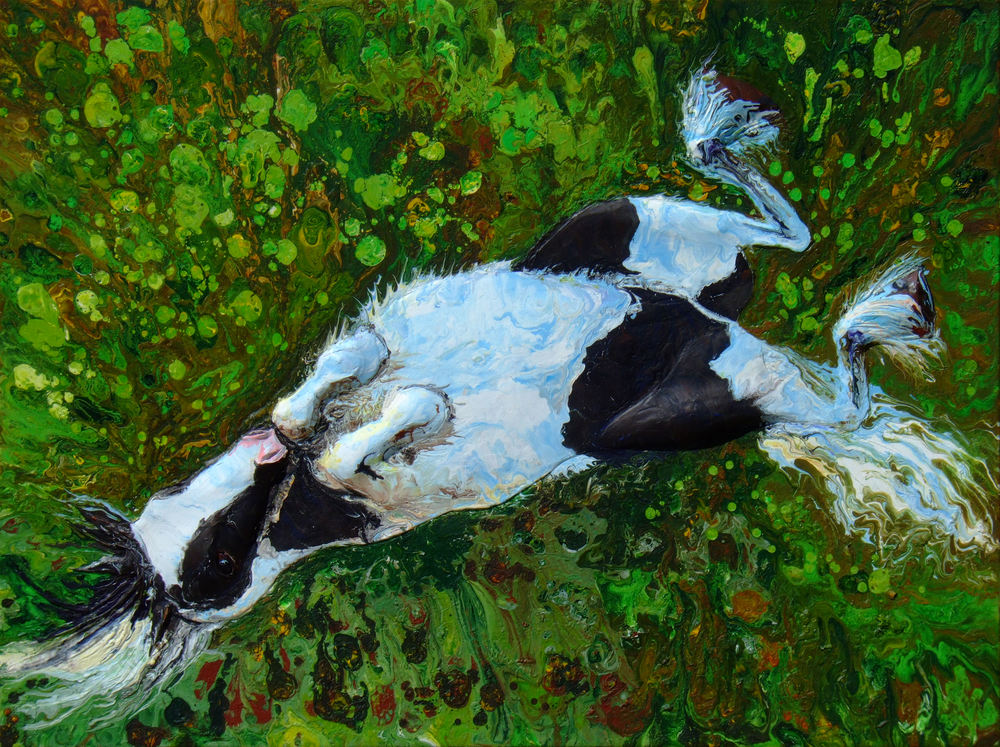 Abstract Acrylic Relief Painting of Horse, Ollie