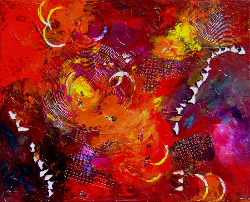 Mars Travel (ii), Acrylic Abstract Painting
